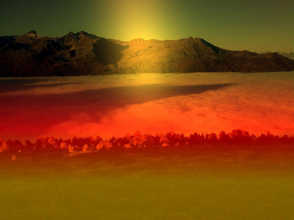 Mer  de  Brouillard dans FONDS D'ECRAN Couché-de-soleil-1024x768