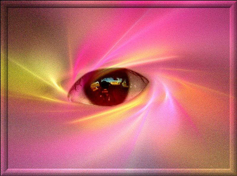 Oeil  et  Fractale dans LES FRACTALES oeil